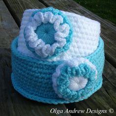 £24.00. Ready to ship worldwide. Crochet basket set of TWO crocheted baskets crochet basket storage crocheted basket crochet storage basket crochet bowl OlgaAndrewDesigns©
