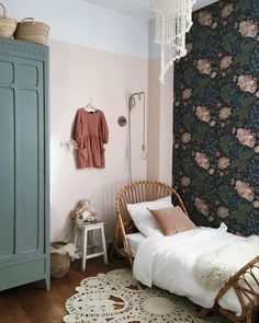Grey and green: A stylish colour combo for boys or girls room.