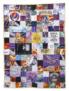 I'm making a t-shirt quilt for a wedding gift and found this while looking for ideas.  Love it!