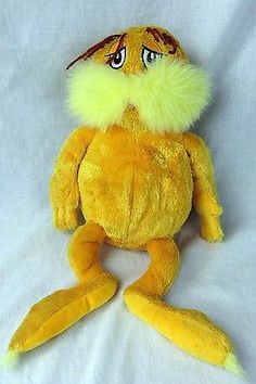 Dr Seuss Lorax Plush Kohls Cares for Kids Stuffed Animal 17 Inches   eBay
