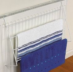 radiator airer 2 bar heavy duty chrome towel laundry. Black Bedroom Furniture Sets. Home Design Ideas