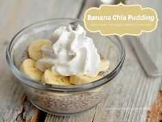 Banana Chia Pudding - think you can't have bananas and be low carb?  You'd be wrong!  This pudding only has 4g net carb per serving!  Yum!