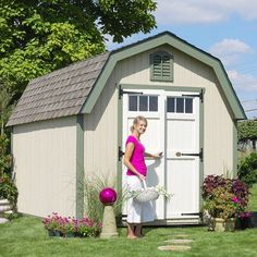Little Cottage 12 x 10 ft. Greenfield Colonial Panelized Storage Shed - Storage Sheds at Hayneedle