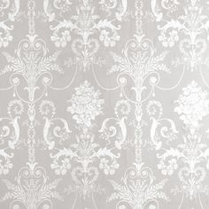 gray and white wallpaper Josette White/Dove Grey Damask Wallpaper Baroque Wallpaper, Grey Damask Wallpaper, Grey And White Wallpaper, Victorian Wallpaper, Beautiful Wallpaper, Chinoiserie, Motif Baroque, Decoration Gris, Pewter Grey