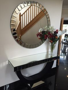 Mr Benjamin features our Quartz Console and Mirror in his stunning hallway. : hall console table and mirror set - pezcame.com