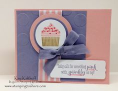 Remembering Your Birthday and Peace, Love Cupcakes with How To Video, Kay Kalthoff is Stamping to Share with Stampin Up! Kids Birthday Cards, Happy Birthday Images, Happy Birthday Greetings, Handmade Birthday Cards, It's Your Birthday, Birthday Wishes, Handmade Cards, Happy Birthday Husband, Cupcake Card
