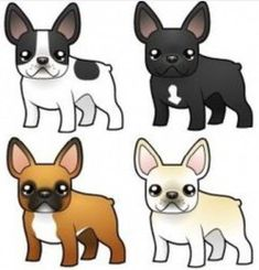 The major breeds of bulldogs are English bulldog, American bulldog, and French bulldog. The bulldog has a broad shoulder which matches with the head. French Bulldog Drawing, French Bulldog Mix, French Bulldog Facts, French Bulldogs, Dog Illustration, Illustrations, Animals And Pets, Cute Animals, Carlin