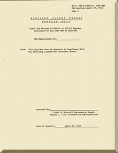 Douglas DC-3 Aircraft Flight Manual - CAA - 1955 - Aircraft Reports - Manuals Aircraft Helicopter Engines Propellers Blueprints Publications