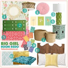 big girl room redo | the handmade home