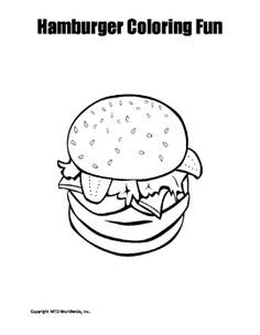 Cheeseburger Coloring Pages, how to draw a hamburger step