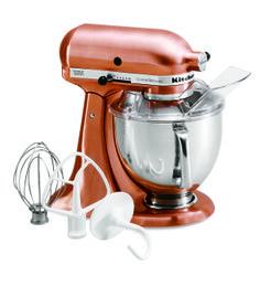 KitchenAid® Custom Metallic® Series 5-Quart Tilt-Head Stand Mixer (KSM152PSNK Brushed Nickel)  