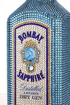 Bombay Sapphire bottles hand decorated with Swarovski crystals  $4000