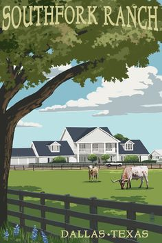 Southfork Ranch - Dallas, Texas (Art Prints available in multiple sizes)