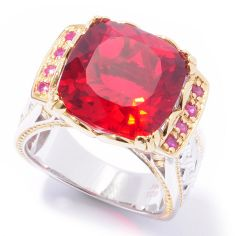 02 - Gems en Vogue II ''Ekaterina'' Brazilian-Cut Quartz Doublet Ring