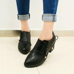 Nuevo bajo Romanas de tacón alto correas cruzadas mujer zapatos de punta en punta tacón cuadrado zapatos de plataforma de las mujeres Negro Marrón