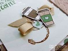 Little Paper Party, Coffee Cafe Bundle, Timeless Textures, Coffee Cards, Coffee Break, Diy Cards, Caffeine, Gift Tags, Stampin Up, Card Ideas, Pots, Beverages