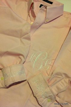 Monogrammed Bridal Party Oversized Shirts - Super Cute Bridesmaid Gift.  via Etsy.