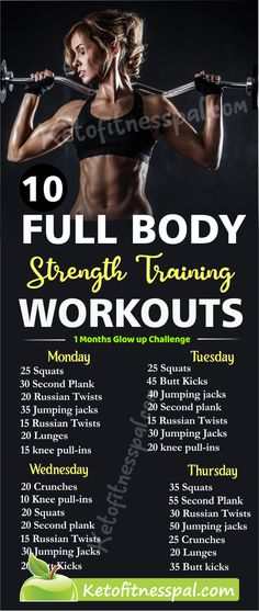 10 Full Body Strength Trainning Workouts