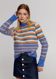Beads striped sweater - Woman | Mango Ireland