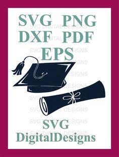 Graduation SVG Cut File Graduation Cap Svg & by SVGDigitalDesigns