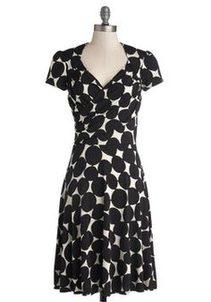 Kelly's Vivid in the Moment Dress in Dots, #ModCloth