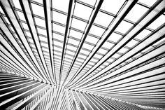 Wonderful abstract shot - Train station Luik Belgium