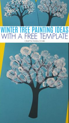 Winter tree activity with a free printable Easy and fun winter tree painting ideas for kids. Use our free printable and try our our ideas for adding some snow or have fun creating your own! Winter Crafts For Toddlers, Art Activities For Toddlers, Winter Kids, Toddler Crafts, Preschool Crafts, Preschool Winter, Fall Winter, Painting Crafts For Kids, Art For Kids