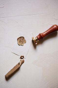 Brass French Heraldry Wax Seal, Semi-Custom , Wax Seal - Signora e Mare, Signora e Mare  - 1