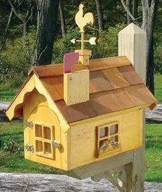 SWISS COTTAGE WOODEN MAILBOX; The swiss cottage wooden mailbox has an ...  lighthousepeddler.com