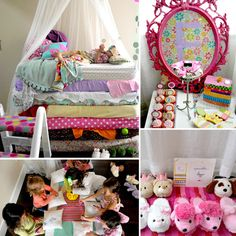 Fairy-Tale Birthday Party :: Princess & the Pea Pajama Party  // Sweet Pea Pillow decorating & silly slippers party favor