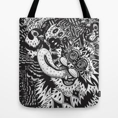 Domesticated (Afternoon in The Garden) Tote Bag by Creative Cat's Studio - Tricia W. Beal - $22.00