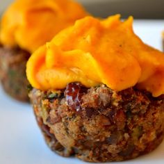 Lentil Loaf Cupcakes with Sweet Potato Frosting – Healthy Julie