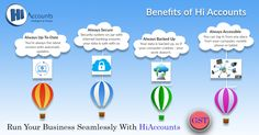 Benefits with Software: Offline and Online Application Fully Secured software Upto Date Automated Backup Accessible from anywhere Accounting Software, Benefit