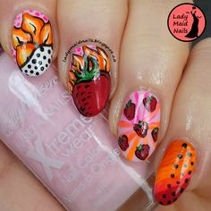 Lady Maid Nails: January 19, Fire Prompt