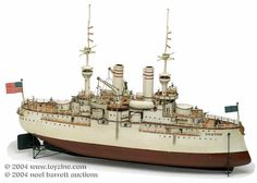 Victorian Toy Battleships | Vintage Toy Boats
