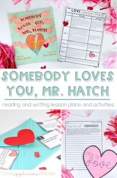 I'm in love with these activities for the book, Somebody Loves You, Mr. Hatch- perfect activities for the week of Valentine's Day! Best part... all my reading and writing lesson plans are DONE for that week!