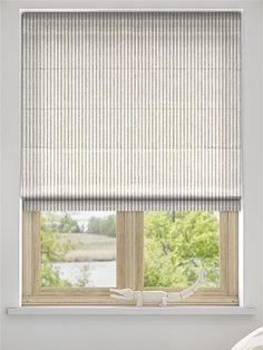 Pure Linen Stripe Roman Blind from Blinds 2go