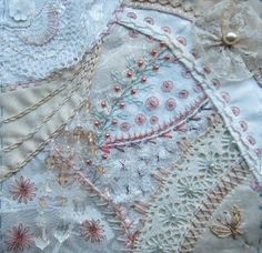 I ❤ crazy quilting, beading & embroidery . . .  #1 Journal Pages 2012 ~By Margreet from Holland