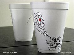 Idea for coffee shop. have monthly contest for best coffee cup art. Have plain white mugs Best Coffee Cup, Coffee Cup Art, Coffee Cup Design, Coffee Shop, Coffee Coffee, Paper Cup Design, Coffee Cup Drawing, Creative Coffee, Disposable Cups