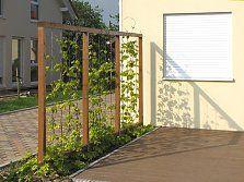 sichtschutz aus weide haselnuss bambus und l rche oder douglasie garten pinterest garten. Black Bedroom Furniture Sets. Home Design Ideas