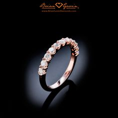 Gwen's Rose Gold Dream Half Eternity Band from Brian Gavin