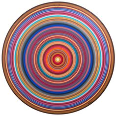 Outsider Concentric Mandala Painting By Holland Reisner | From a unique collection of antique and modern paintings at http://www.1stdibs.com/furniture/folk-art/paintings/