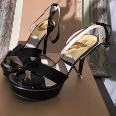 Michael Kors Black patent leather platform pumps Michael Kors sexy 4 inch heel & 1/2 inch platform, size 10. Patent leather upper, rubber sole. Can be dressed up or down. New with box condition, tried on (in house a couple times) but never worn outside Michael Kors Shoes Platforms