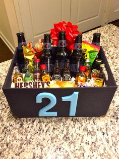 21st Birthday Present For The Boyfriend Gifts Basket