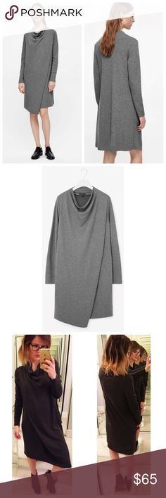 ➡️COS Draped Collar Jersey Dress⬅️ Made from a strecthy jersey material, this dress has draped front with a cowl neckline. An A-line fit, it has in-seam pockets, long sleeves and neat finishes. I love this dress for fall/winter. From their current line. 80% Viscose / 17% Polyester / 3% Elastane. 💕Offers welcome. Take 30% off your entire purchase automatically at checkout when you use the bundle feature, or ask me to create a custom bundle for you. Happy Poshing!💕 COS Dresses Long Sleeve