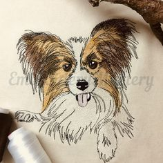 Excited to share the latest addition to my #etsy shop: PAPILLON DOG machine embroidery design. Butterfly dog. Dog pattern. Pet embroidery. Puppy embroidery. 3 sizes. Instant download http://etsy.me/2nu6Sr0 #supplies #embroidery #machineembroidery #embroiderydesign #dog