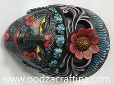 Beautiful and elegant painted wooden mask