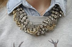New York Fashion Week Spring 2012 Street Style: Statement Necklaces | POPSUGAR Fashion
