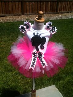 @Betsy Buttram Buttram Turley OMG bets this is insanely adorable. our future children will wear this outfit at their joint barbie party haha.