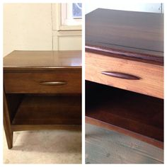 Drab to beautiful end table- gel stain is amazing!